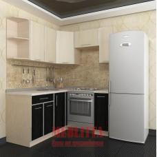 Угловая кухня c местом под холодильник