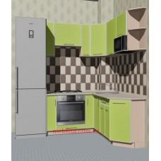 Угловая кухня в чешку с шахтой