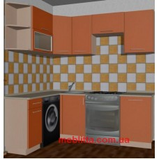 Угловая кухня с фасадами из пластика